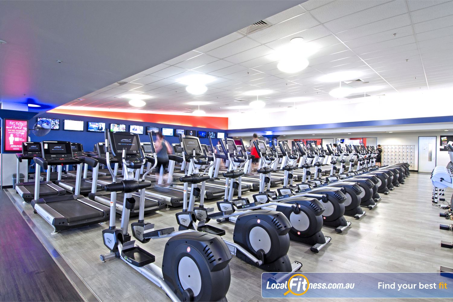 Goodlife Health Clubs Chermside The latest cycle bikes, cross trainers and treadmills from Stex Fitness.