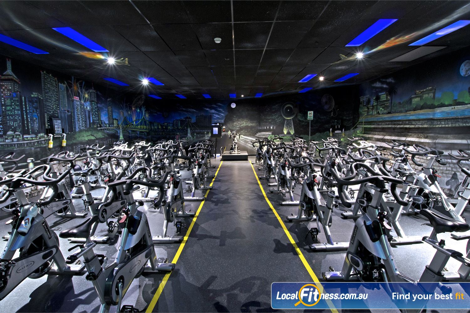 Goodlife Health Clubs Chermside Dedicated Chermside spin cycle studio with state of the art Tomahawk cycle bikes.