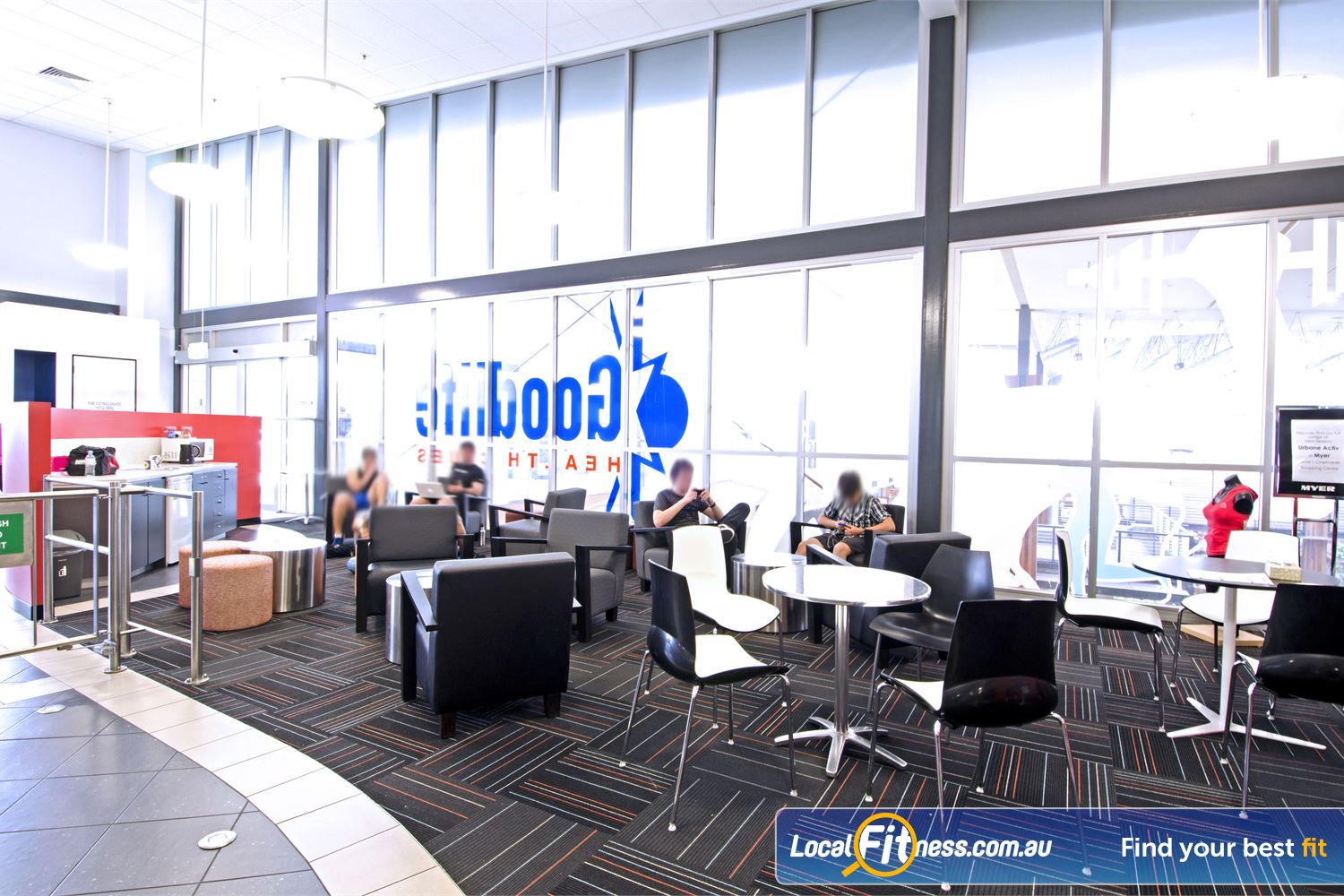 Goodlife Health Clubs Near Zillmere Comfortable lounges and kitchen facilities for members and guests.
