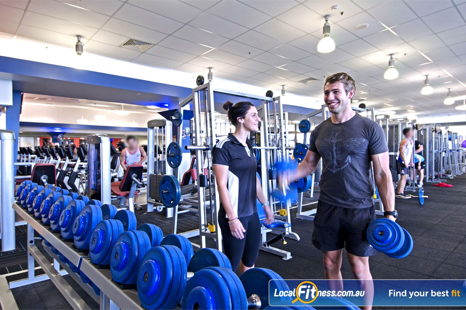 Goodlife Health Clubs Near Aspley Goodlife Chermside gym provides a comprehensive free-weights area.