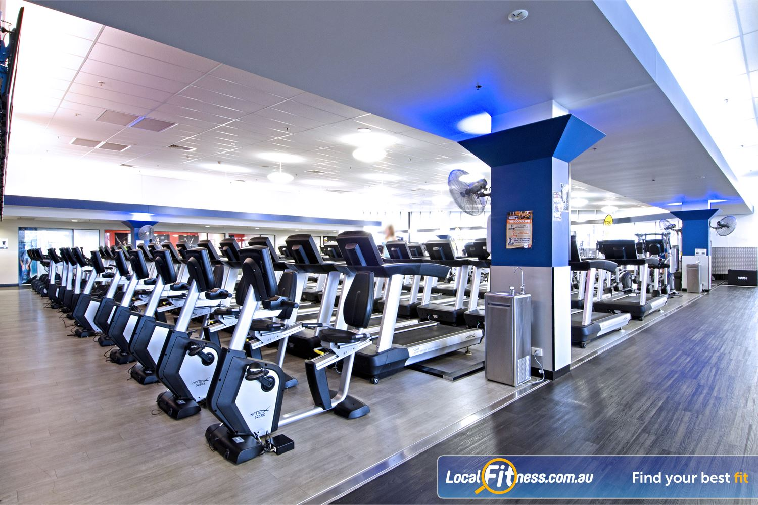 Goodlife Health Clubs Near Geebung Goodlife Chermside gym provides multiple cardio machines so you don't have to wait.