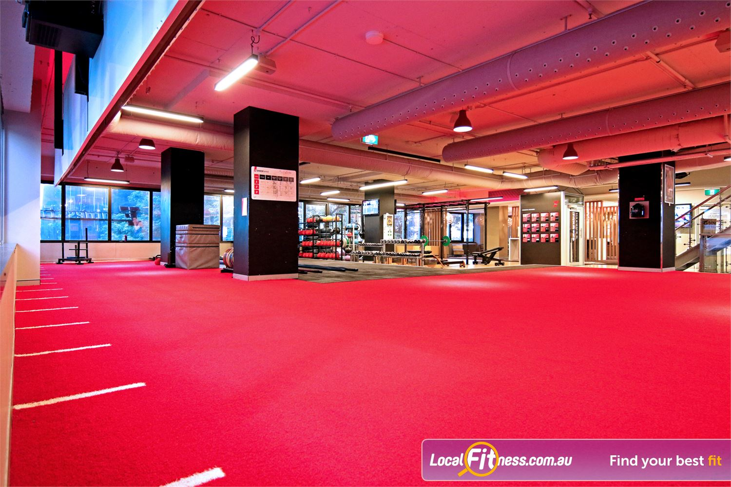 Fitness First Elizabeth St Near George Street Brisbane personal trainers can take you through a freestyle workout in our functional area.