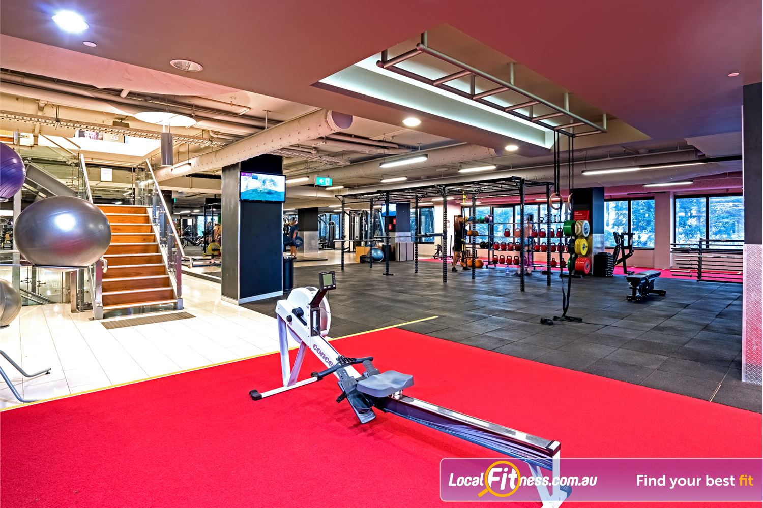 Fitness First Elizabeth St Near George Street Vary your workout to include indoor rowing.