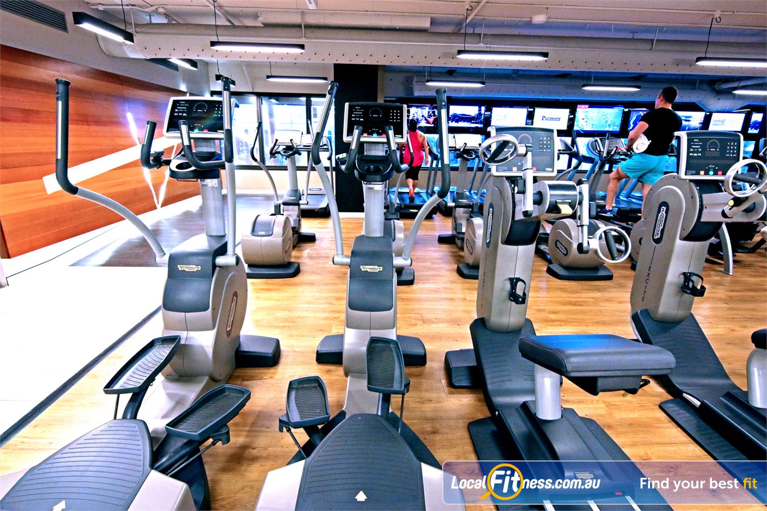 Fitness First Elizabeth St Brisbane The best cardio equipment with built in entertainment screens.