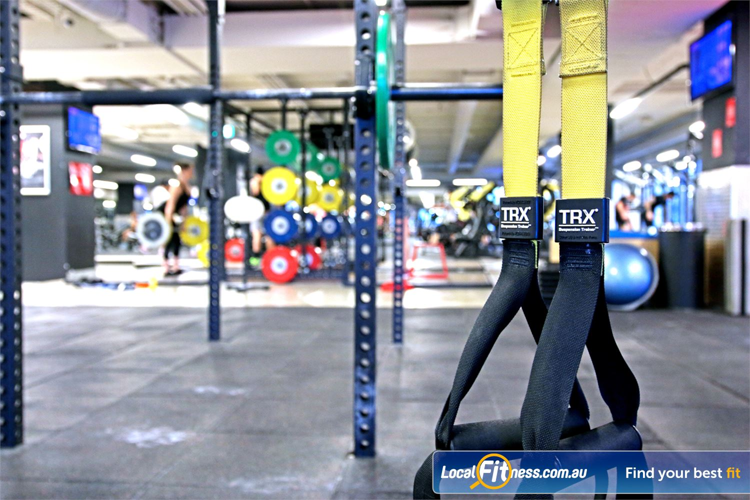 Fitness First Elizabeth St Brisbane Innovative equipment perfect for freestyle and functional training.
