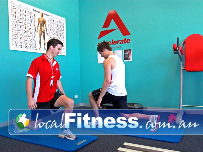 Jetts Fitness Near Montrose Our Lilydale gym includes a stretching zone with fitballs, medicine balls and mats.