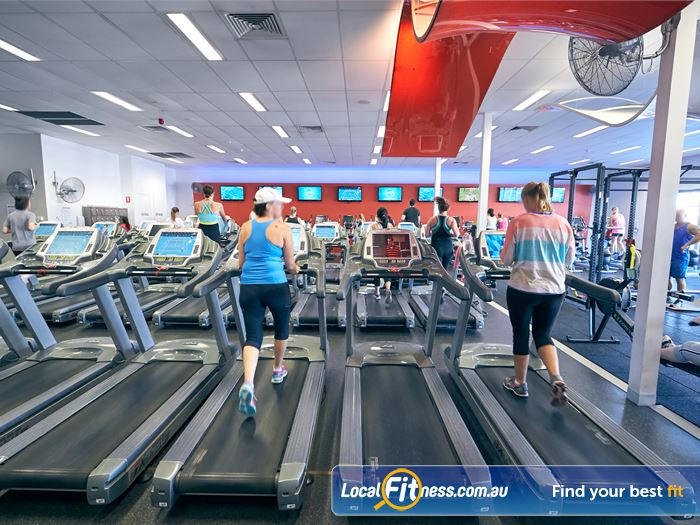 Goodlife Health Clubs Gym Kingswood  | The fully equipped Westbourne Park free-weights gym area.