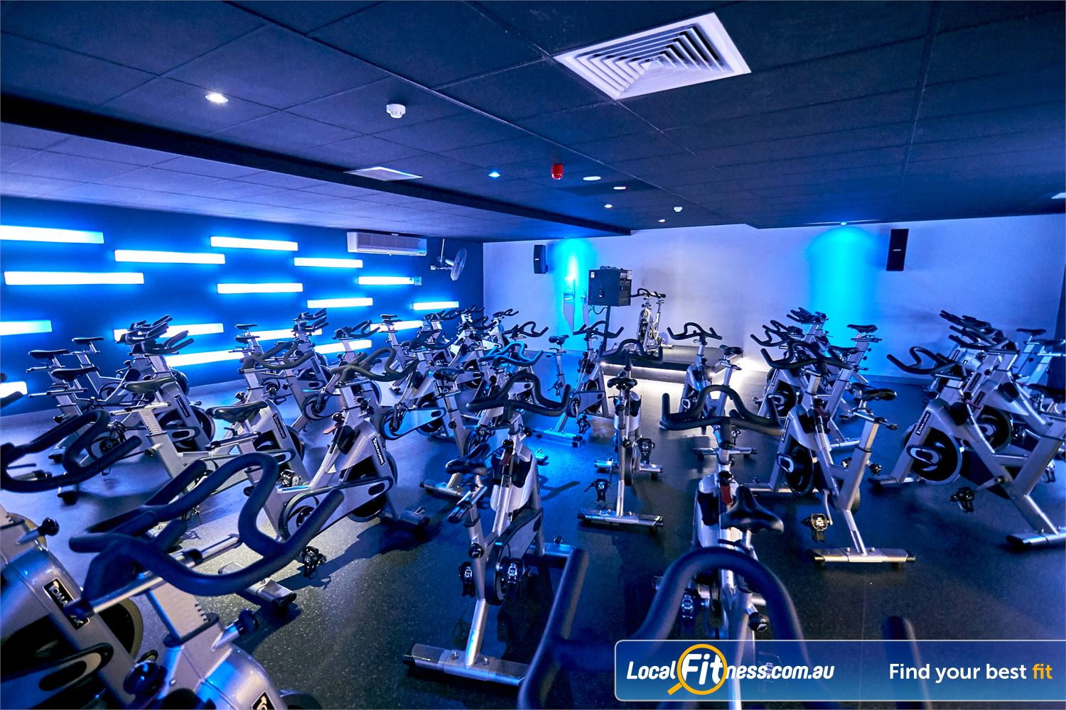 Goodlife Health Clubs Cross Roads Near Lower Mitcham Utilise top of the range Tomahawk S series Spinning Cycle Bikes.