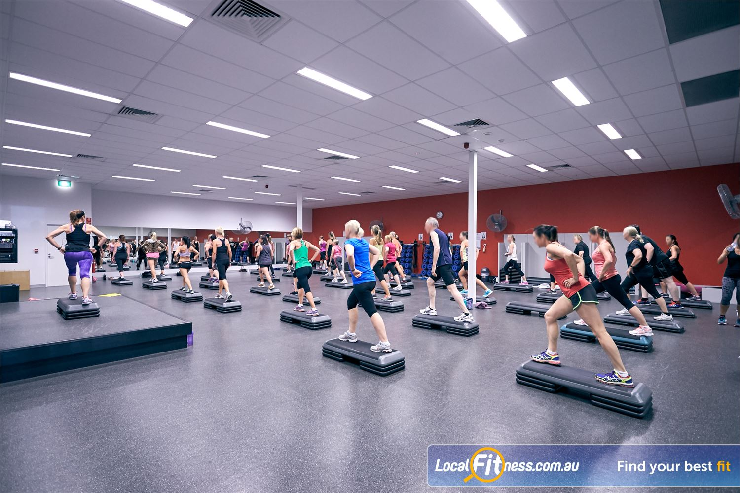 Goodlife Health Clubs Cross Roads Near Unley Park The dedicated and spacious Westbourne Park group fitness studio.
