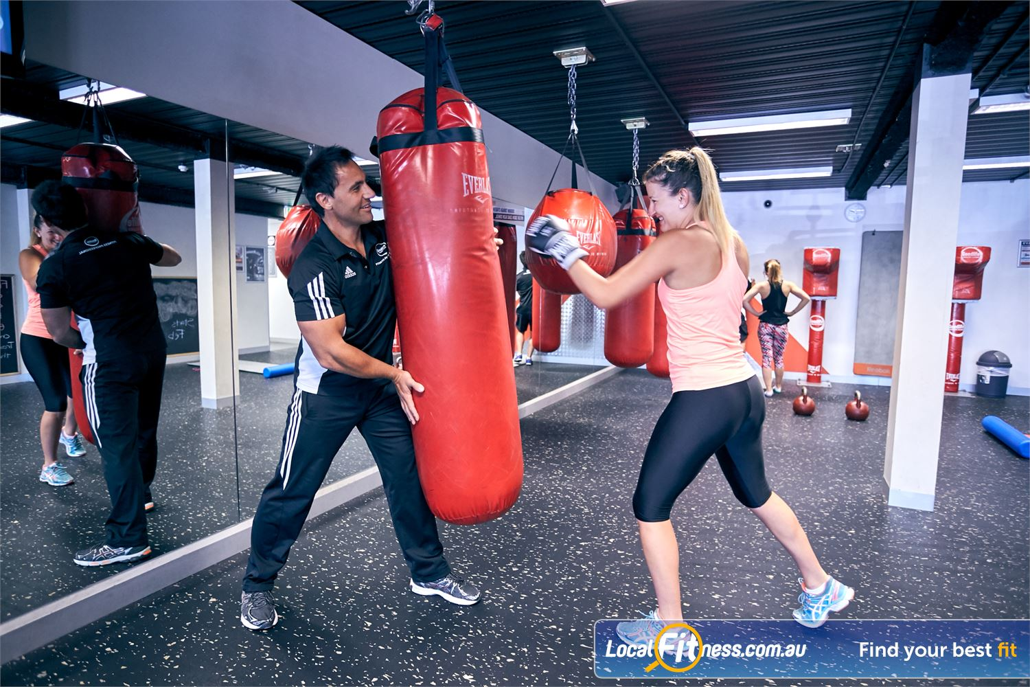 Goodlife Health Clubs Cross Roads Near Unley Park Our Westbourne Park personal trainers can take you through a cardio boxing routine in our boxing studio.