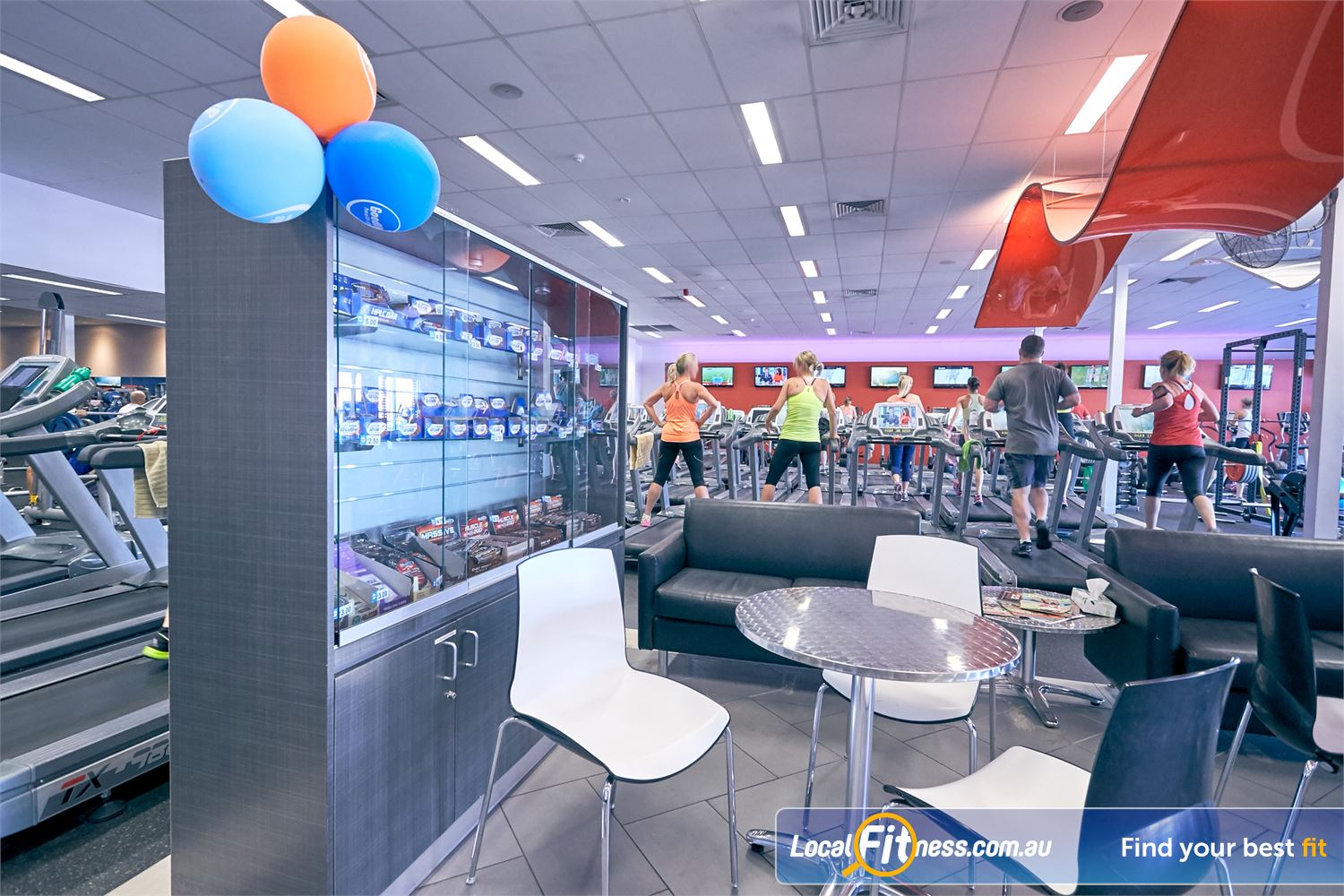 Goodlife Health Clubs Cross Roads Near Lower Mitcham Comfortable lounges and a chill out area for members and guests.