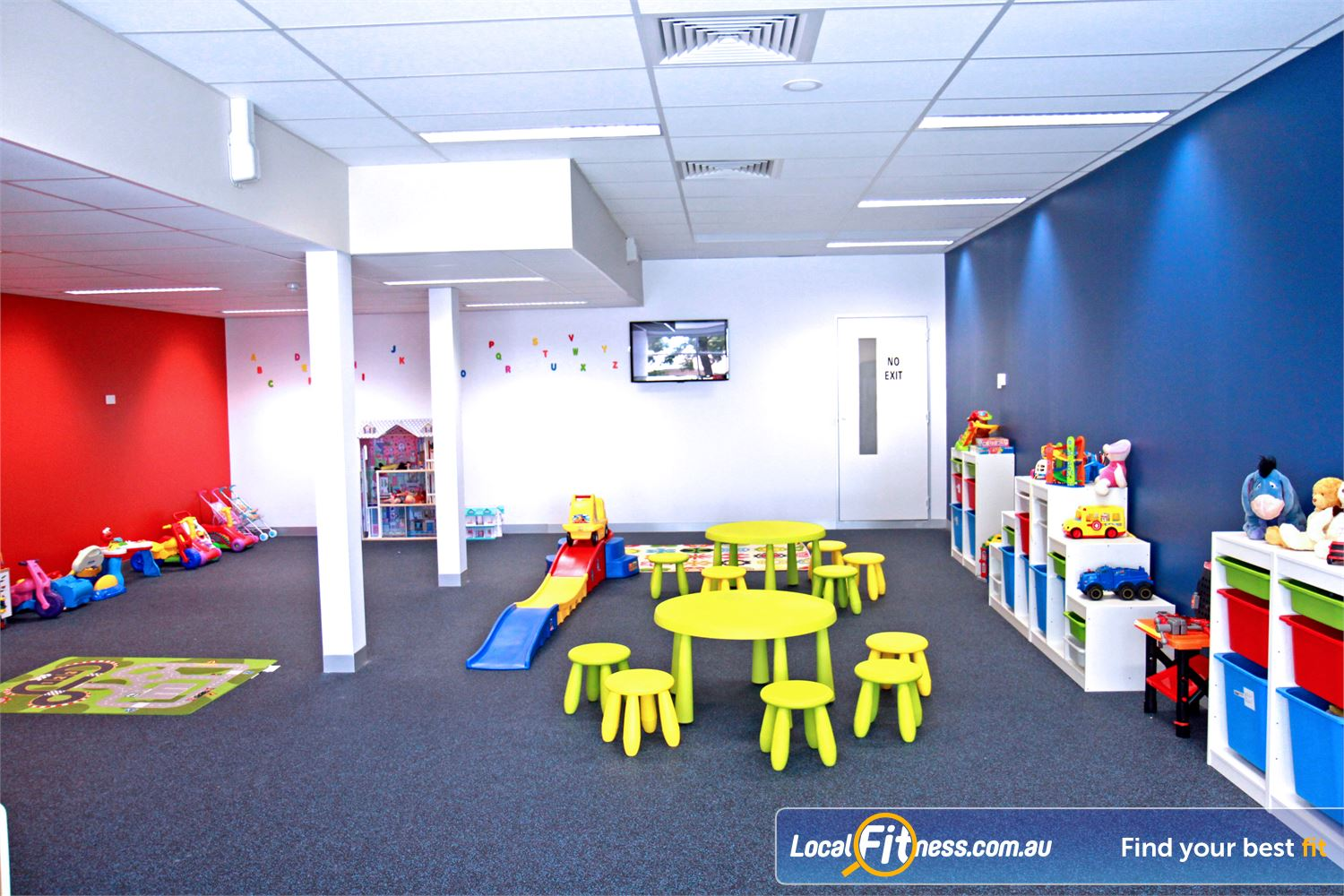 Goodlife Health Clubs Cross Roads Near Unley Park Westbourne Park child minding is part of our family friendly gym environment.