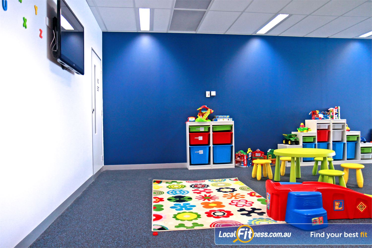 Goodlife Health Clubs Cross Roads Westbourne Park Goodlife Cross Roads provides on-site child minding services.