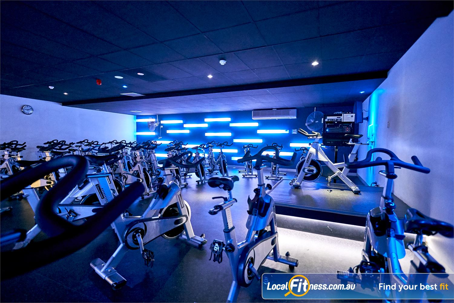 Goodlife Health Clubs Cross Roads Near Lower Mitcham High energy instructors will help you burn calories in an energetic Westbourne Park spin class.