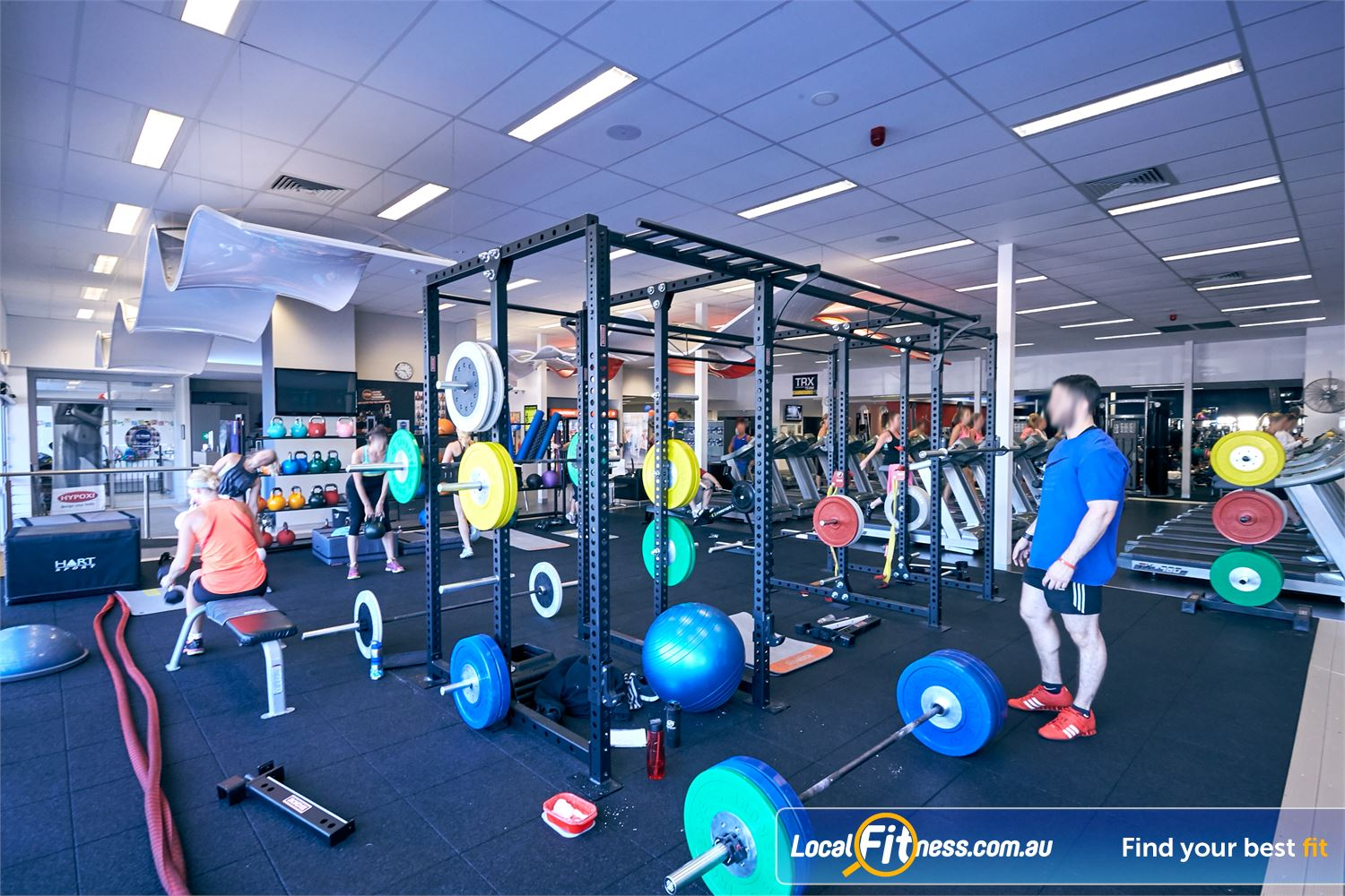 Goodlife Health Clubs Cross Roads Westbourne Park The Westbourne Park gym features a functional training zone.
