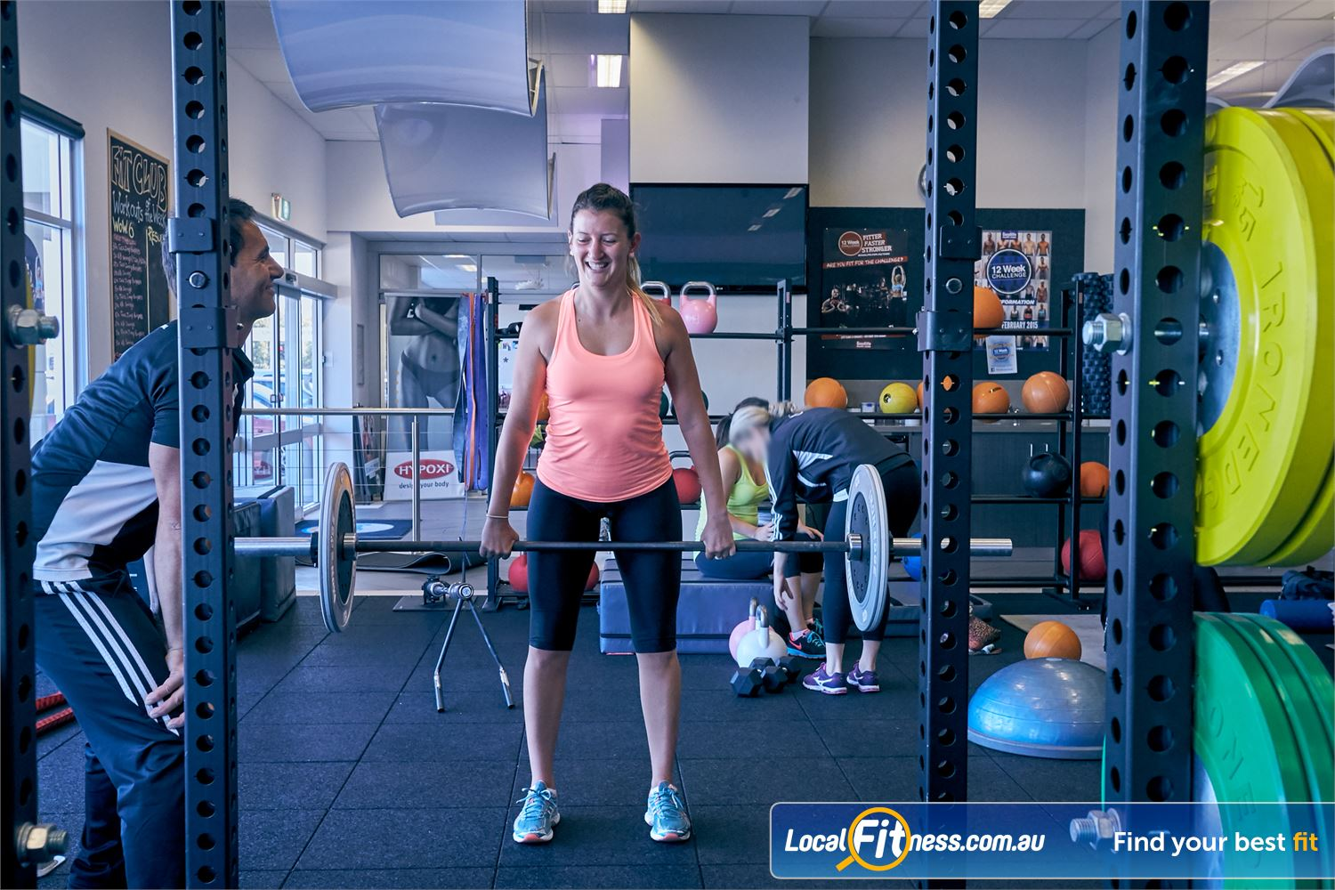 Goodlife Health Clubs Cross Roads Westbourne Park Goodlife Cross Roads personal trainers can vary your workout with free-weights.