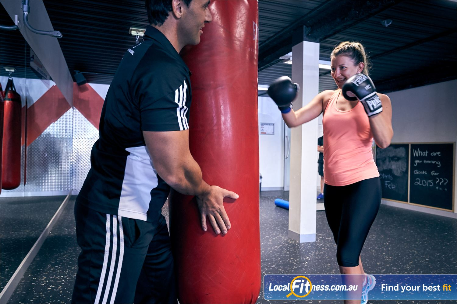 Goodlife Health Clubs Cross Roads Near Hawthorn Our Westbourne Park personal trainers can take you through a cardio boxing routine in our boxing studio.