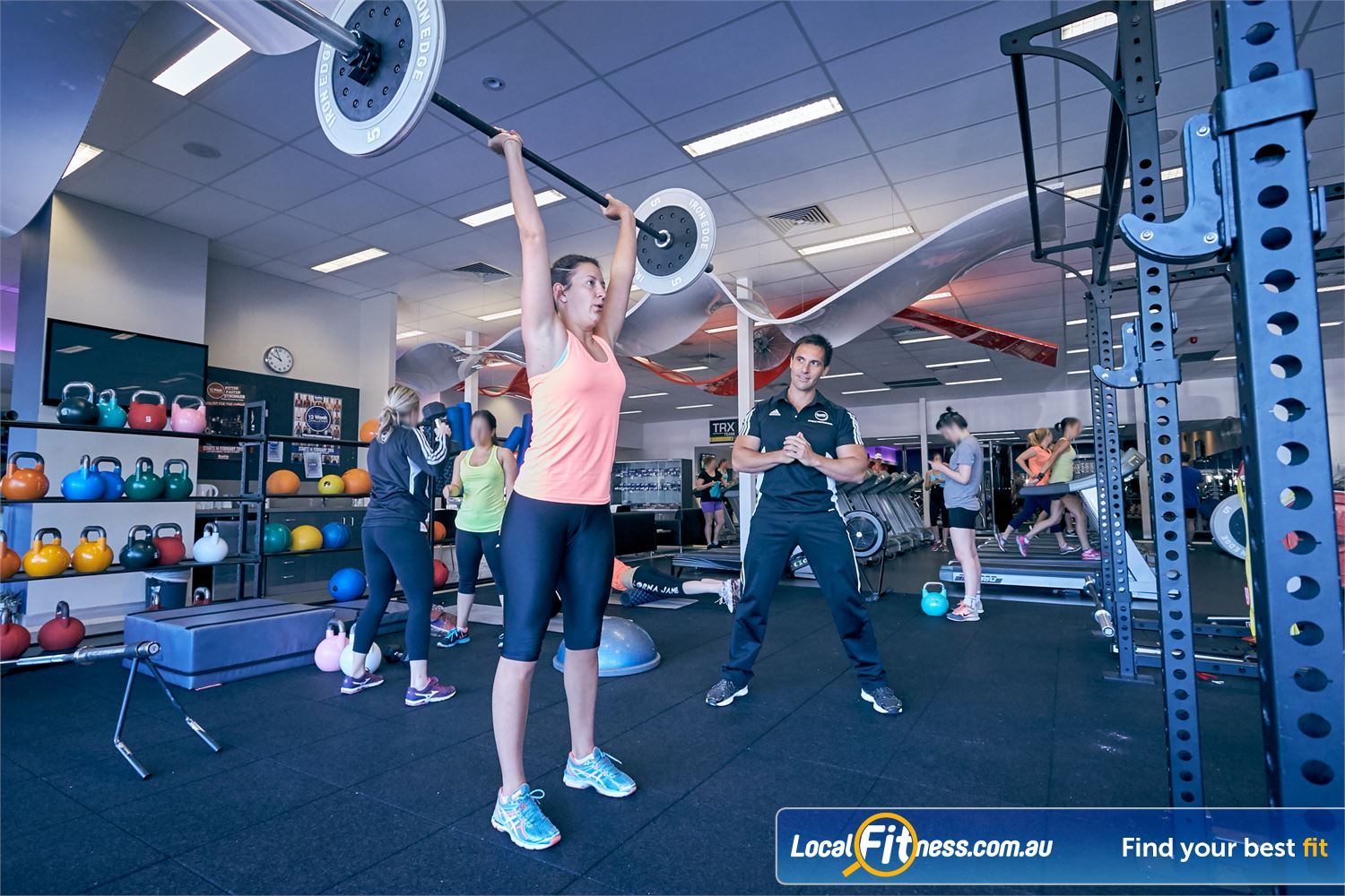 Goodlife Health Clubs Cross Roads Near Hawthorn Our team can help you with functional training lifts.
