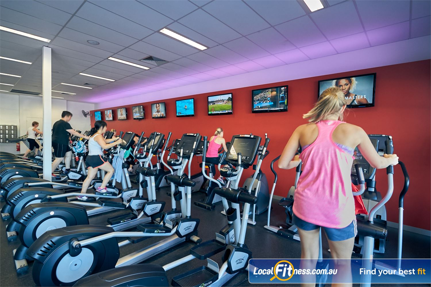 Goodlife Health Clubs Cross Roads Near Unley Park Get 24-hour access to our cardio in our 24/7 Cross Roads gym.