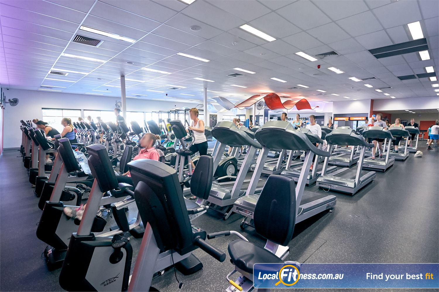 Goodlife Health Clubs Cross Roads Near Hawthorn Rows of cardio in our Westbourne Park gym.