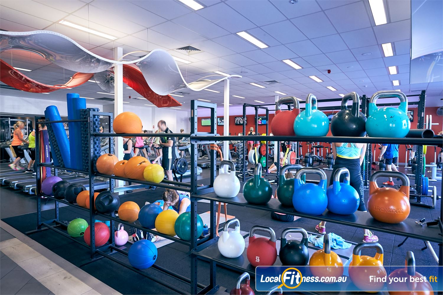 Goodlife Health Clubs Cross Roads Near Unley Park Our functional training area inc. kettlebells, medicine balls and more.