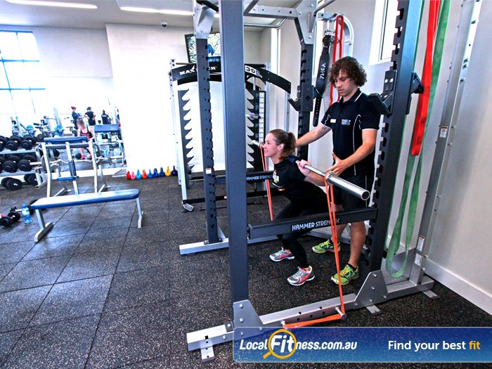 Brunswick Baths Near Coburg Multiple Squat Racks From Hammer Strength And Max Rack 3 D