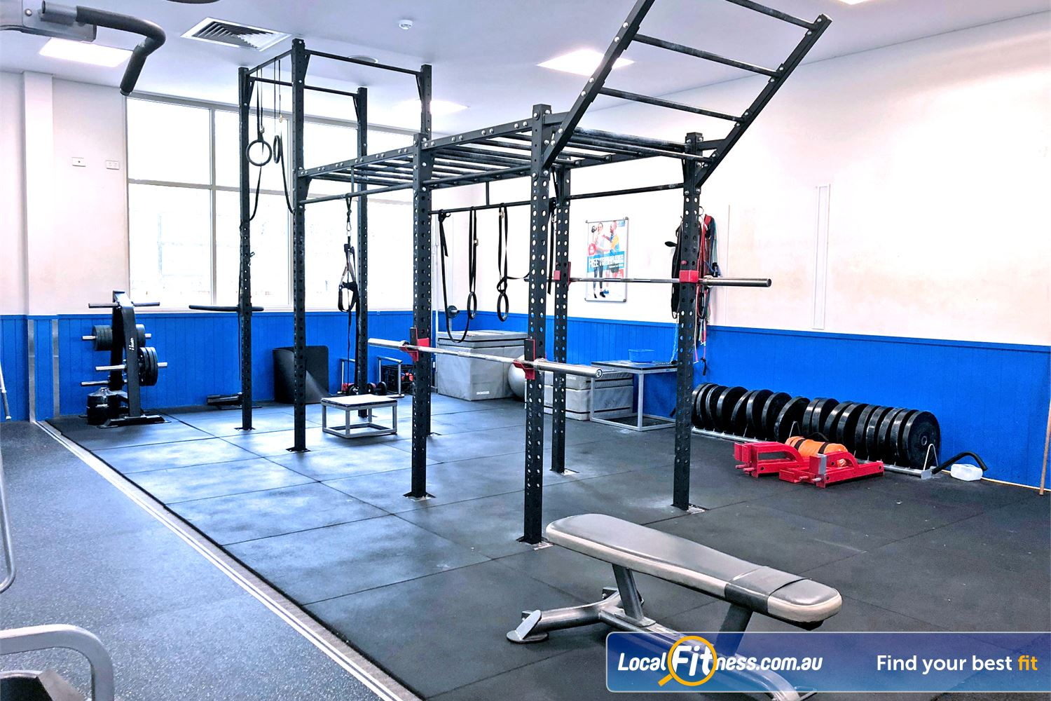 Albany Creek Leisure Centre Near Bridgeman Downs The dedicated functional training and HIIT Gym space.