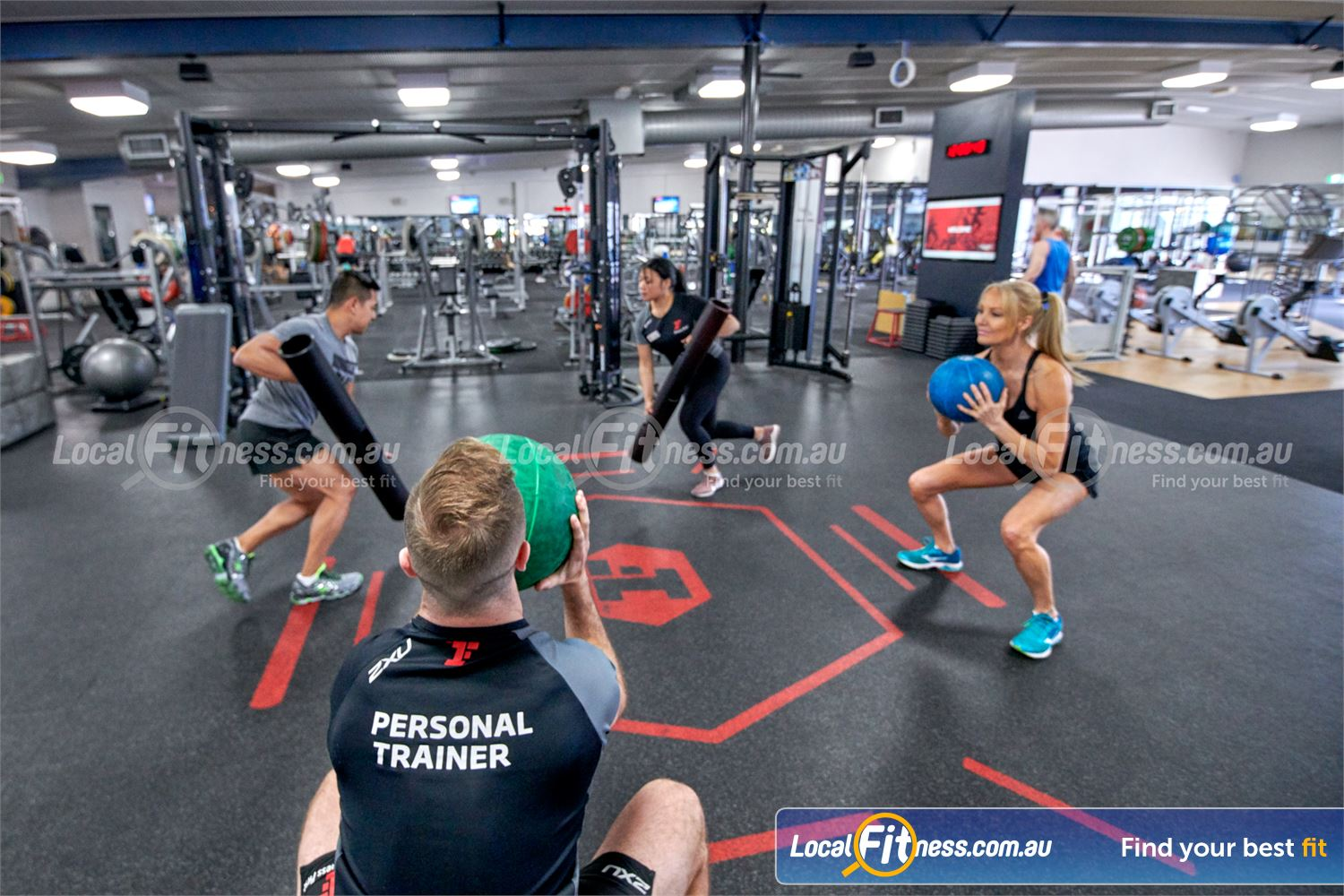 Fitness First Near North Rocks Deadballs, ViPR training, plyometric boxes and more in our freestyle area.