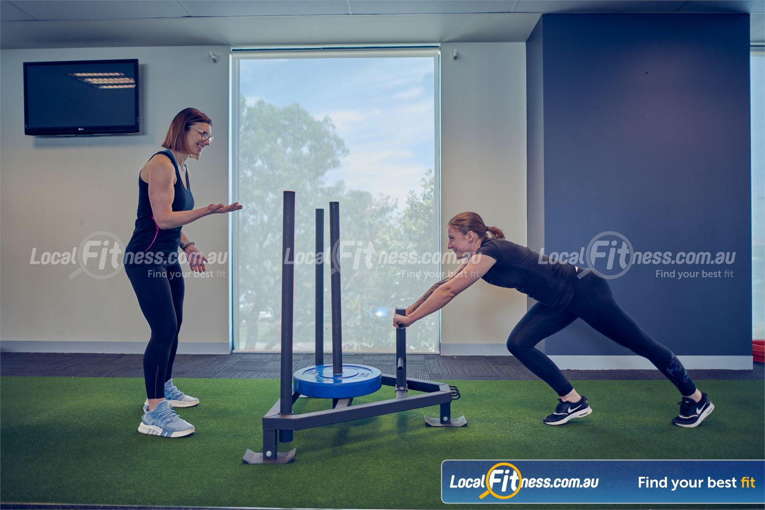 Fernwood Fitness Near Deer Park Get a functional work with sled runs in our Cairnlea HIIT gym.