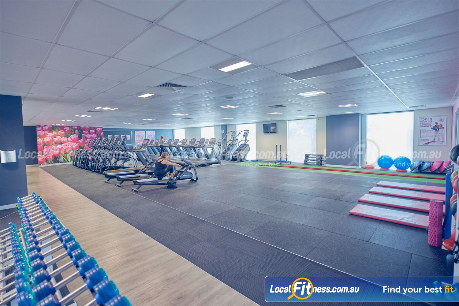 Fernwood Fitness Near Ravenhall Our fully equipped abs and stretch area.