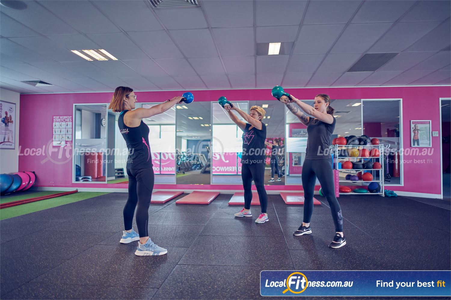 Fernwood Fitness Cairnlea Get a kettlebell workout with our Cairnlea personal trainers.