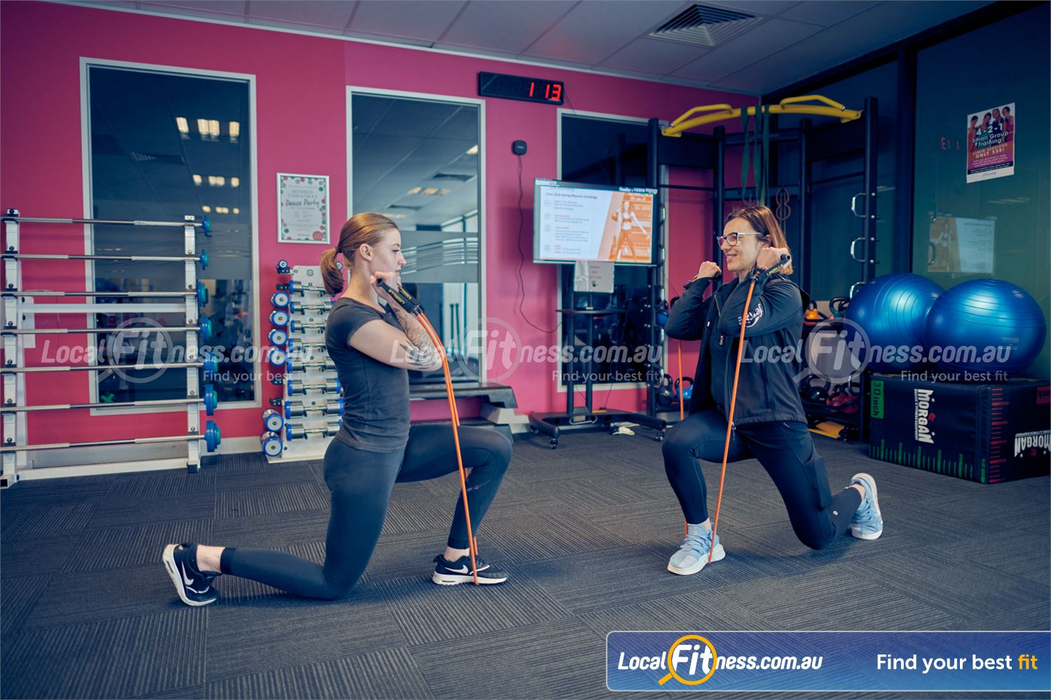 Fernwood Fitness Near Ravenhall Our Cairnlea gym team will add variety to your women's program inc. resistance band training.