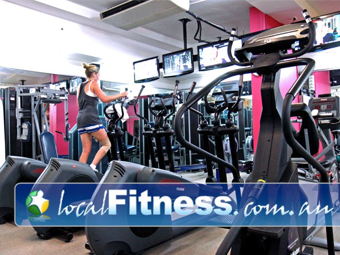 Body Express Gym Bondi Beach Tune into your favorite show while you enjoy your cardio workout.