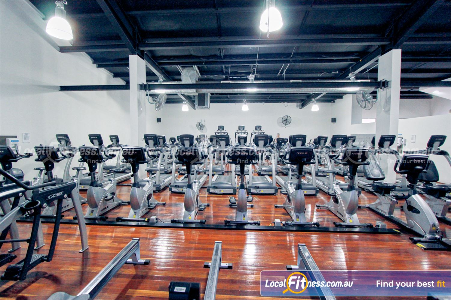 Goodlife Health Clubs Near Mount Evelyn Rows of treadmills, cross-trainers, steppers, cycle bikes and more.