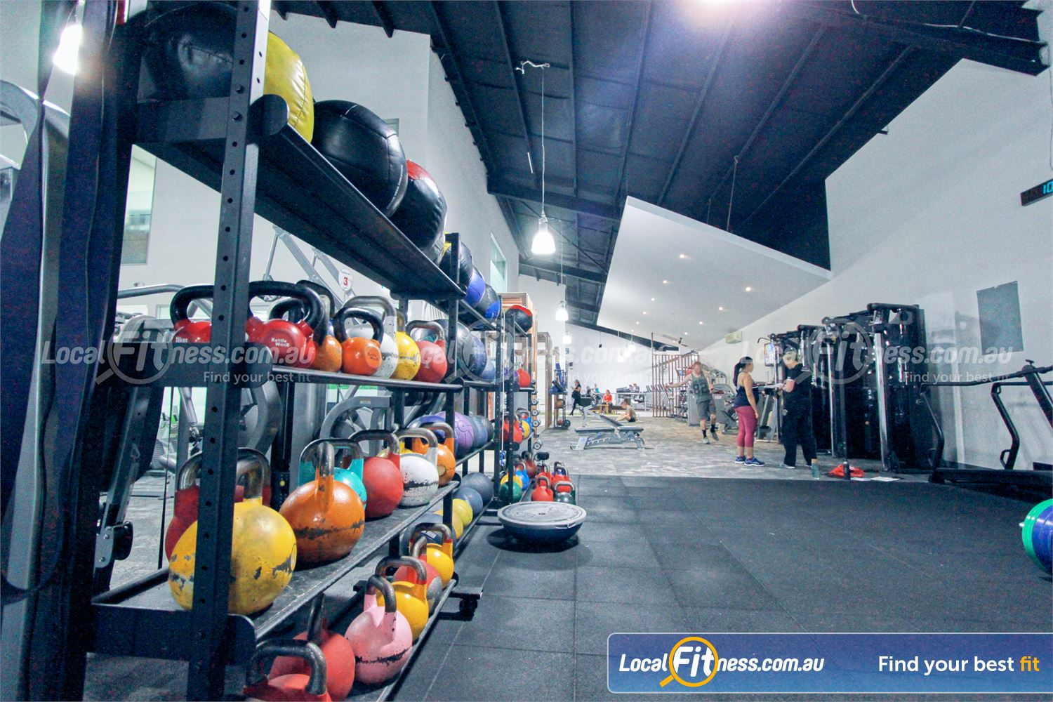 Goodlife Health Clubs Near Montrose Fully equipped functional training zone with Kettlebells, wall balls and more.