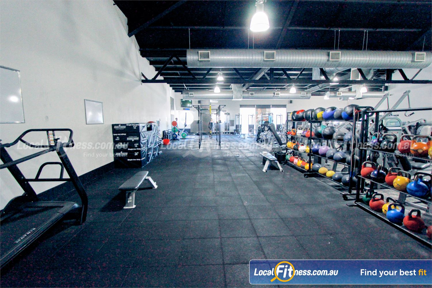 Goodlife Health Clubs Near Lilydale the spacious Mooroolbark HIIT gym and functional training zone.
