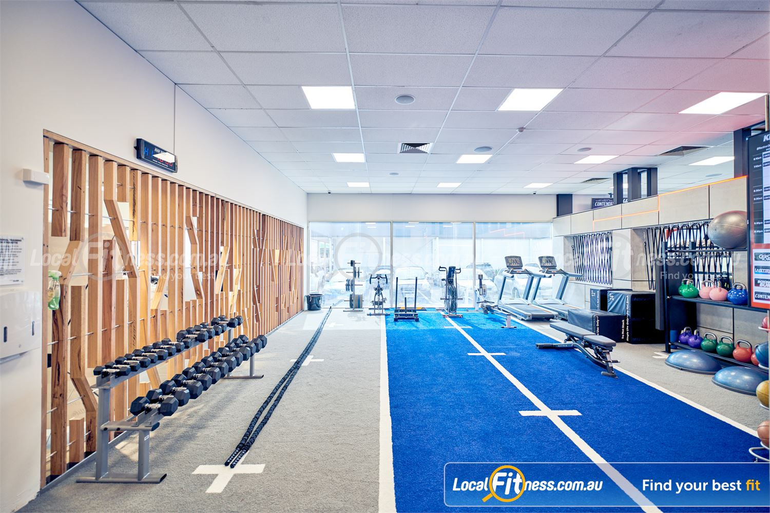 Goodlife Health Clubs Knox City Near Wantirna 1 of 2 functional training areas in our Knox City gym.