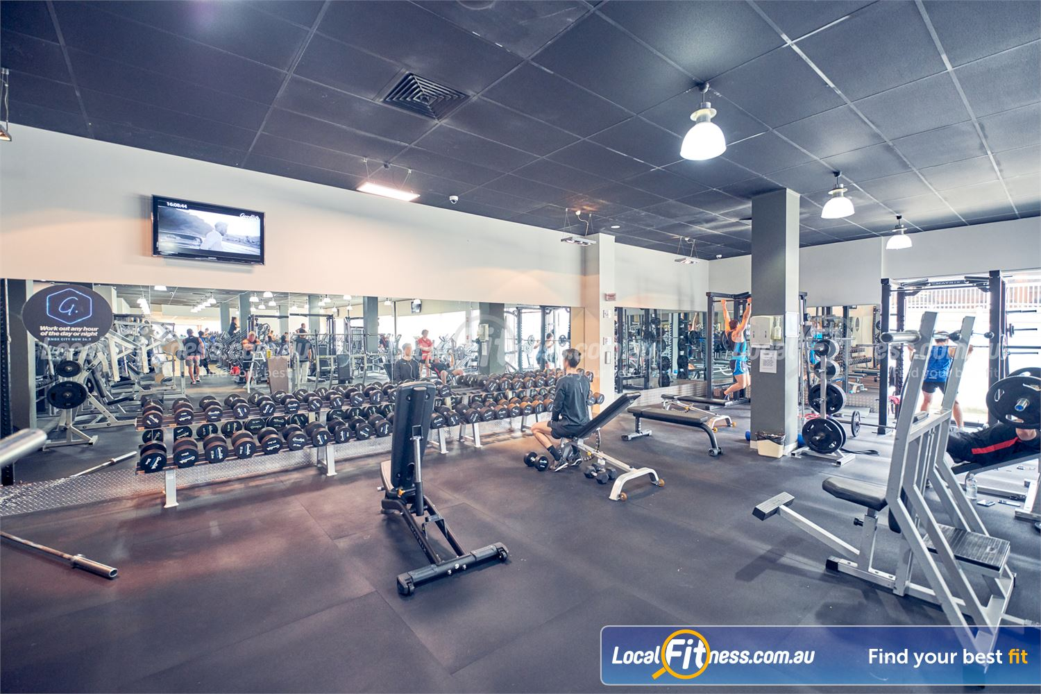 Goodlife Health Clubs Knox City Near Scoresby Our 24 hour Knox City gym includes a fully equipped free-weights area.