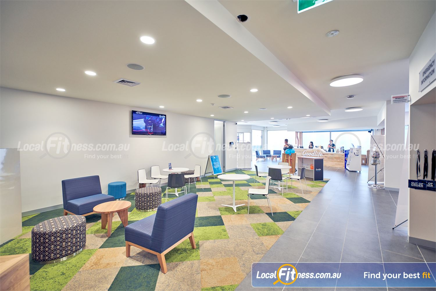 Goodlife Health Clubs Knox City Near Scoresby Our lush members lounge area at Goodlife Knox City.