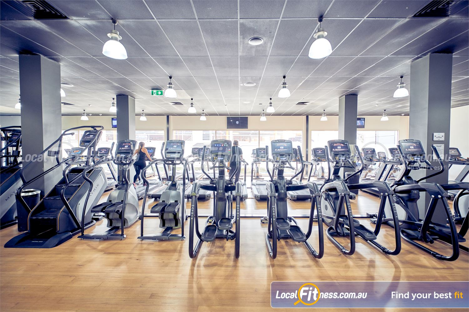 Goodlife Health Clubs Knox City Wantirna South State of the art MATRIX cardio with personal entertainment screens.