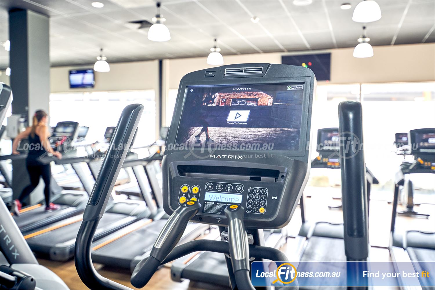 Goodlife Health Clubs Knox City Near Scoresby State of the art MATRIX cardio with personal entertainment screens.
