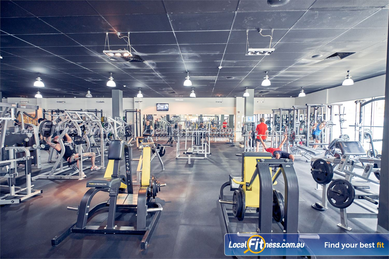 Goodlife Health Clubs Knox City Wantirna South Our Knox City gym provides heavy duty plate loading equipment.