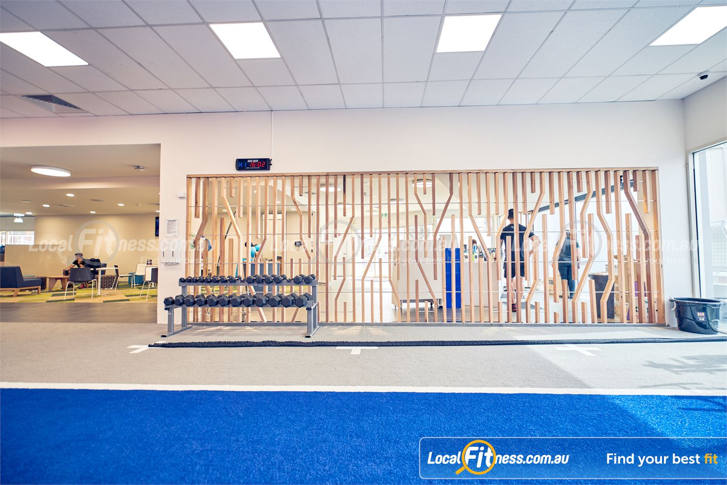 Goodlife Health Clubs Knox City Wantirna South Our functional training area includes an indoor sled/run track.