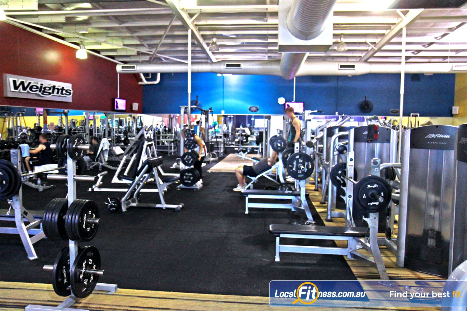 Goodlife Health Clubs Near Bentley A full range of easy to use free-weights machines.