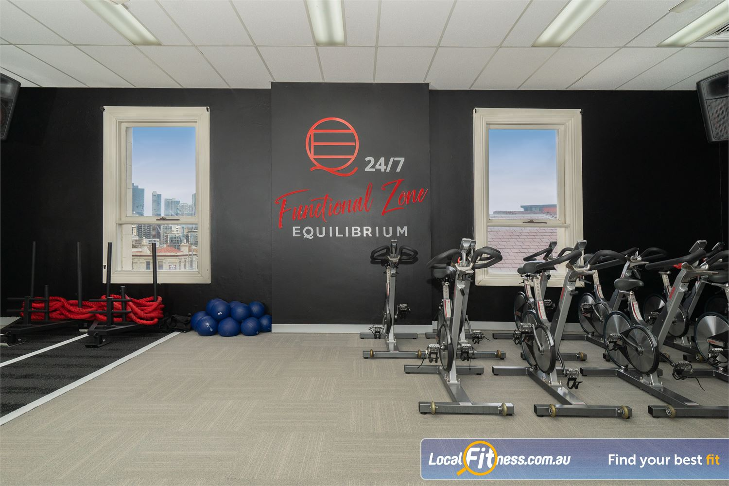 Equilibrium Health & Fitness 24/7 Near Parkville The fully equipped functional zone in North Melbourne.