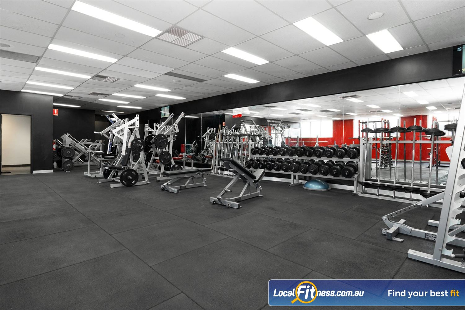 Equilibrium Health & Fitness 24/7 North Melbourne Our 24/7 Gym in North Melbourne includes a wide range of hammer strength equipment.