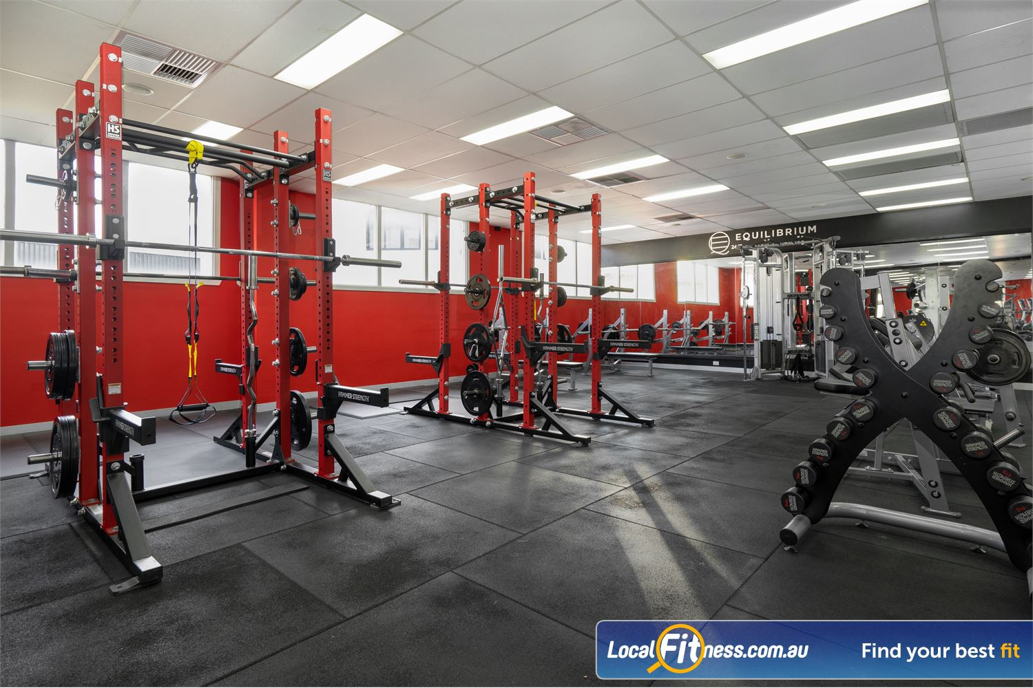 Equilibrium Health & Fitness 24/7 Near Parkville Our power racks are perfect for TRX, deadlift, squat training and more.
