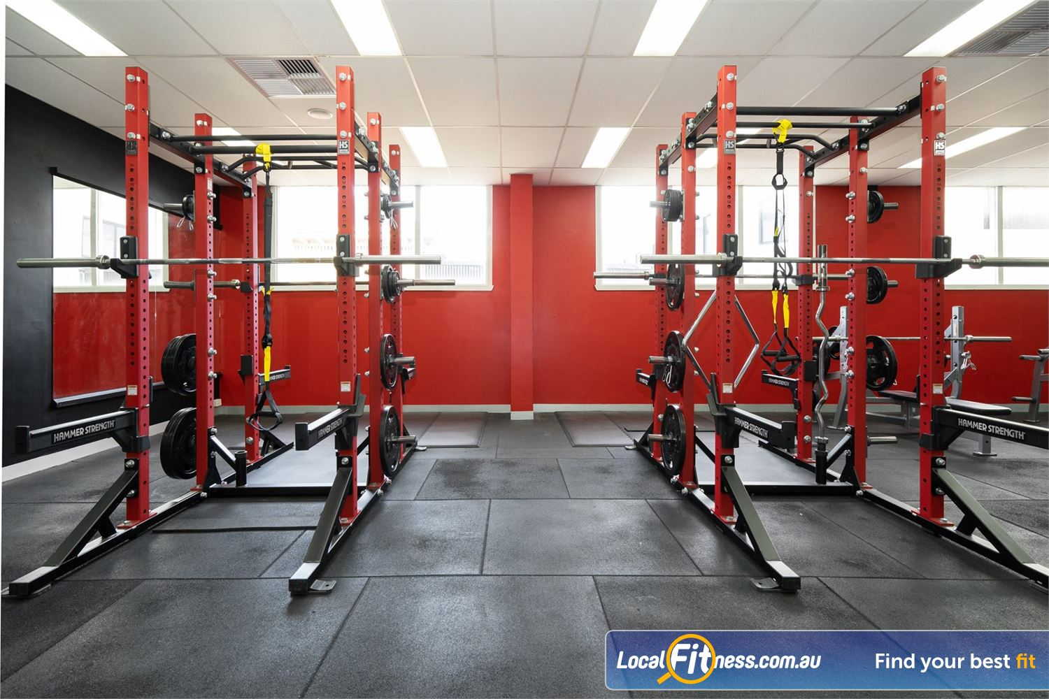 Equilibrium Health & Fitness 24/7 Near Carlton North Our North Melbourne gym includes multiple heavy duty power racks.