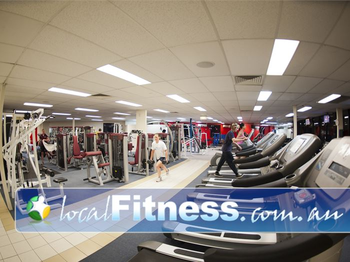 Fitcity24:7 Woolloongabba The spacious cardio area at FitCity:24.