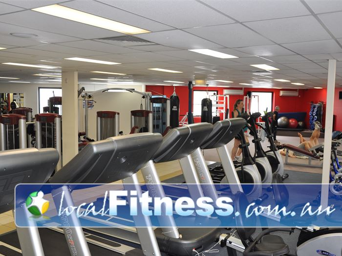 Fitcity24:7 Near Kangaroo Point Comprehensive cardio area includes treadmills, rowers and more.